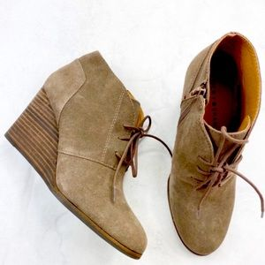 Lucky brand Shylow Brown Wedge Bootie